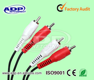High-Quality 2 RCA Plug Double Shielded RCA Cable pictures & photos