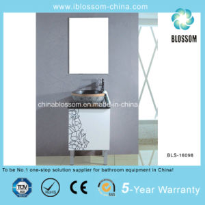 Modern Art Floor Mounted China PVC Bathroom Vanity, Cabinet (BLS-16098) pictures & photos