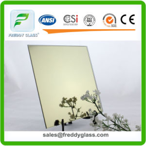 6mm High Quality Golden Bronze Reflective Mirror/ Colored Mirror/ pictures & photos