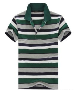High Quality Custom Striped Men Printed Polo Tee Shirt (FY-0540) pictures & photos