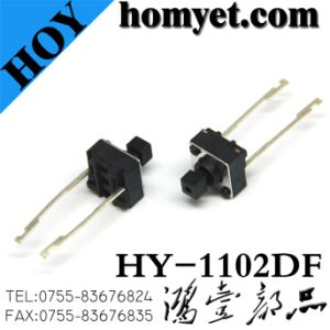 Tact Switch with Square Handle 6*6*7.3mm Long Feet pictures & photos