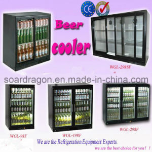 298L CE Approved Black Beer Cooler for Bar pictures & photos