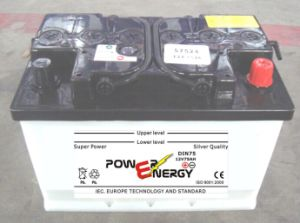 DIN80 12V80ah Lead Acid Dry Charged Rechargeable Car Storage Battery pictures & photos