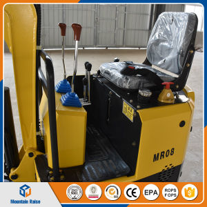 China Cheap Price Mini Excavator 0.8ton Crawler Excavator for Sale pictures & photos