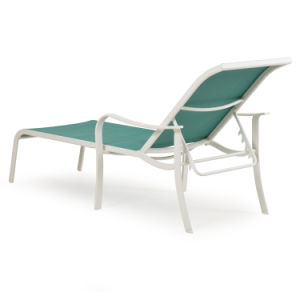 Well Furnir Armless Sling Chaise Lounge Emerald pictures & photos