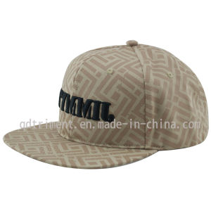 Cotton Twill Flat Bill Snapback Print Embroidery Baseball Cap (TMFL6345) pictures & photos
