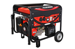 Fusinda 7kw Electric Gasoline Generator Set with Handle and Non Flat Wheels pictures & photos