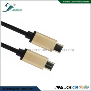 3.1c Male-to Male USB Transfer Data and Charge Without Colorful Braid Matel Head pictures & photos