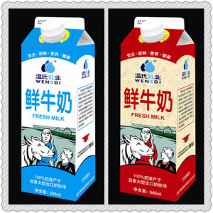1000ml 3 Layer Fresh Milk Gable Top Paper Box pictures & photos