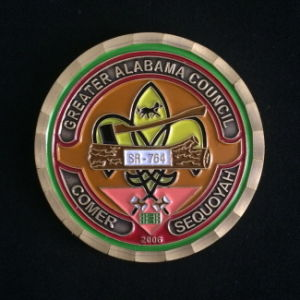 Custom High Quality Brass Soft Enamel Challenge Coin with Diamond Edge for Souvenir pictures & photos