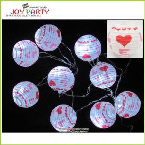 "3"" Paper Lantern String Light Wedding Decoration Garland Light"