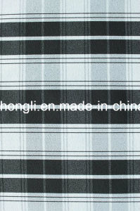T/R/Sp Cationic, Plaid Fabric, 252GSM pictures & photos