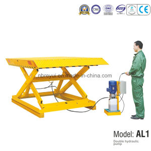 Double Hydraulic Pump lift table pictures & photos