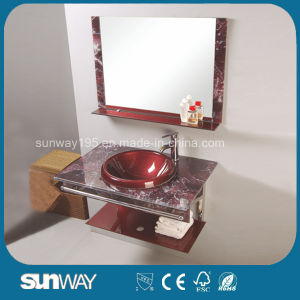 Modern Design Tempered Glass Basin with Mirror pictures & photos