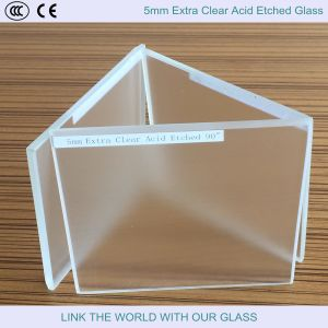 5mm Extra Clear Acid Etched Float Glass/French Embossing/Beautiful Glass/Decorative Glass pictures & photos