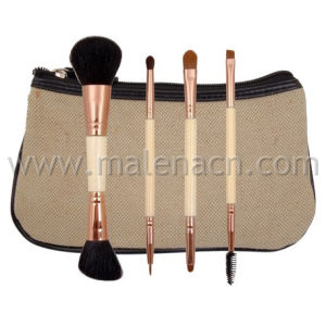 4PCS Dual Ends Cosmetic Brush Makeup Brush with Synthetic Hair pictures & photos