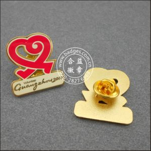 Heart Shape Volunteer Badge, Custom Lapel Pin (GZHY-LP-045) pictures & photos