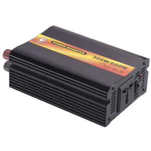 12VDC to 220VAC 50Hz 300W Pure Sine Wave Inverter Used in Car with Universal Socket (12V DC Battery Input)