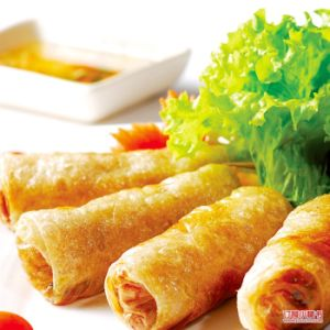 IQF Frozen 100% Hand Made Vegetable 15g/piece Cylinderical Elongated Egg Rolls pictures & photos