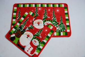 Merry Christmas X′mas Happy Bathroom Bathtub Shower Bath Mats pictures & photos