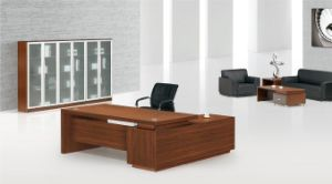 Multipli Wood Stain Left L Shape Good Quality Standard Size Modern Office Table pictures & photos