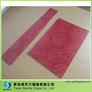 Cheap Price Decorative Silk Printing Tempered Glass pictures & photos