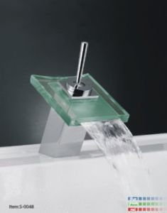 Waterfall Basin Mixer with LED Light/S-004