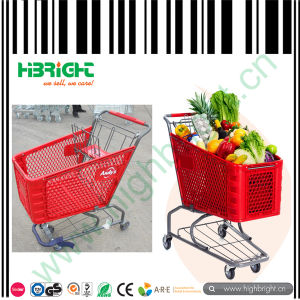High Quality Plastic Shopping Cart for Sale pictures & photos
