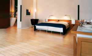 12.3mm Mirror Surface HDF Parquet Laminated Floor AC3 U Groove E1 pictures & photos