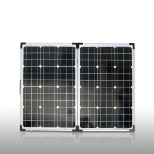 100W Portable Folding Solar Module Made by Monocrystalline Solar Cell Silicon (SGM-F-2*50W) pictures & photos