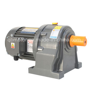 100W Shaft Dia 18mm Horizontal Mounted Gearbox Small AC Gear Motor pictures & photos