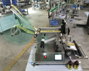 Semi-Automatic Round Bottle Pressure-Sensitive Adhesive Labeling Machine pictures & photos