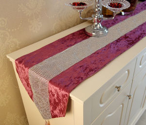 Hand-Sewing Diamond Tape Table Runner Decorative Table Flag (YTR-17) pictures & photos