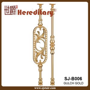 Die-Casting Rose Gold Aluminum Baluster for Villas (SJ-B006) pictures & photos