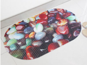 Wholesale OEM PVC Love Printed Bath Rug pictures & photos