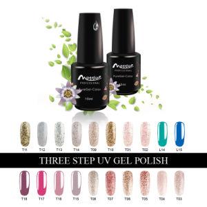 Long Lasting Soak off Nail Art Three Steps Nail UV Gel Polish 15ml Nail Gellack pictures & photos