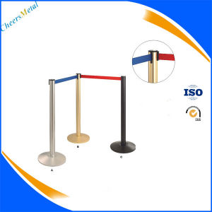 Cheap Portable Stainless Steel Queue Barrier Pole Stand for Sale pictures & photos