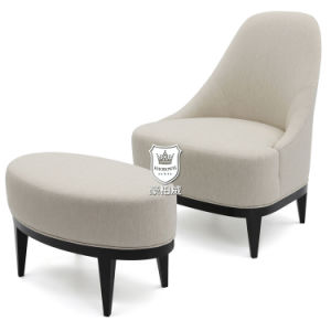 Stylish Hotel Sofa Chair with Oval Footstool pictures & photos