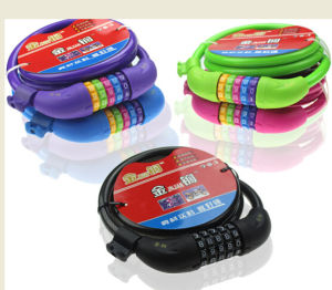 Colorful Bike/Bicycle Waterproof Look/ Combination Lock pictures & photos