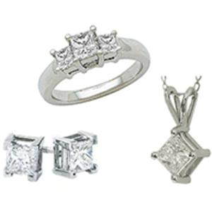 Wholesale Luxury Jewelry Set Clear CZ Necklace Jewelry Set
