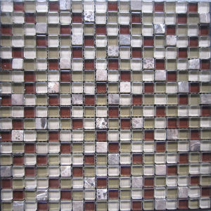 Stone Mix Crystal Glass Mosaic Tile (HGM334) pictures & photos