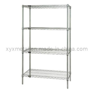 4-Tier Chrome Plated Wire Shelves Metal Display Rack pictures & photos