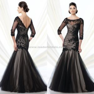 Backless A Line Mother of The Bride Dress Half Sleeve Prom Gowns B35 pictures & photos