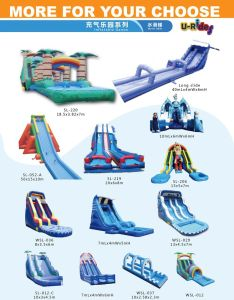 Commercial grade CE inflatable water slide water game inflatable slide with pool for kids pictures & photos