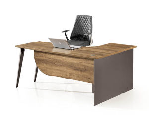 Brown MDF Private Office Desk pictures & photos