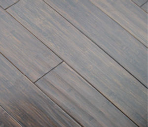 Handscraped Horizontal Bamboo Flooring Black pictures & photos