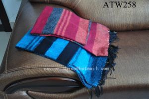 Acrylic Throw Blanket/ Stripe Plaid (ATW258)