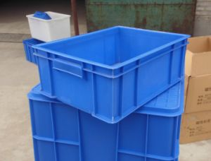 Solid Stackable PP Plastic Crate (JW-CN1412754) pictures & photos