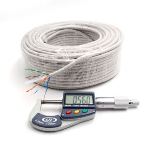 Network Cable CAT6 UTP Cable Twisted Pair with Drain Wire 100m PVC Grey pictures & photos