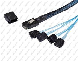 (SFF-8087) to 4 X SATA Straight Mini Sas Cable pictures & photos